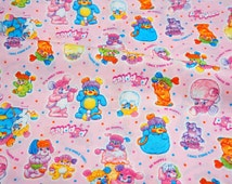 Cartoon fabric Popples Half meter 50 cm by 106 cm or 19.6 by 42 inches
