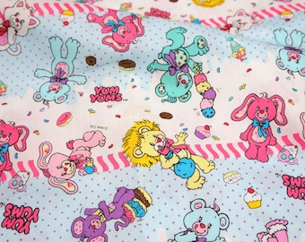 Cartoon fabric Yum Yums Half meter 50 cm by 106 cm or 19.6 by 42 inches