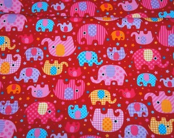 Japanese fabric Elephant  half meter 50 cm by 106 cm or 19.6 by 42 inch nc13