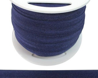 By the Yard- Fold over elastic in purple