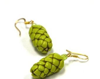 Hops BLING Earrings - The ORIGINAL Beer Gear - Beer Diva Beer Jewelry - Hop Jewelry - Beer Geek Gift