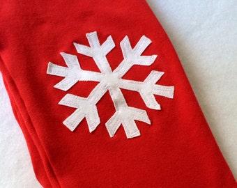 Snowflake Leggings. Christmas Sale. Snow Flake Leggings. Girls Christmas Leggings. Red Leggings. Nordic Style Leggings.  Winter Leggings