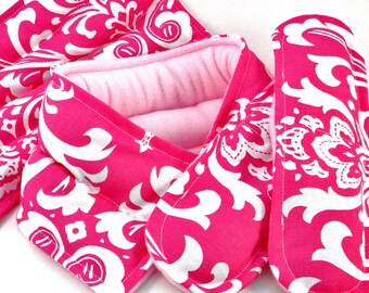 Pregnancy Gift Set, New Mom Baby Shower Gift, Relaxation Heating Pads for New Mother, Doula Hot Cold Packs, pink