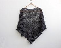 Simple Triangle Lace Shawl Crochet Pattern, Lace Shawl PDF Pattern, Digital Download, Crocheted  Summer Wrap Pattern