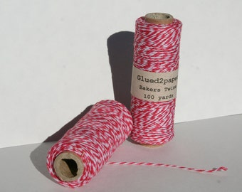 Valentine's Bakers Twine - Red, Pink and White Bakers Twine - Scrapbooking Twine - Craft Supplies - 100 yards of 4 Ply Twine