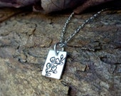 Silver Dogwood Necklace Extra Small