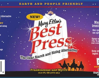 Spray Starch, Best Press Spray Starch Frankincense and Myrrh 16oz