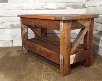 Saloon Style Western Coffee Table