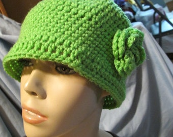 Spring Green Cloche Hat (5002)