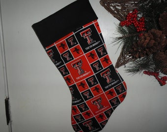 Texas Tech Christmas stocking