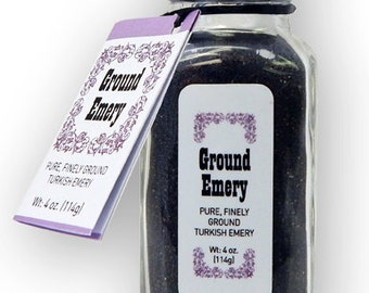 Ground Emery for pincushions, 4 oz bottle