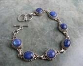 Vintage Bracelet - Sterling Silver - Labradorite