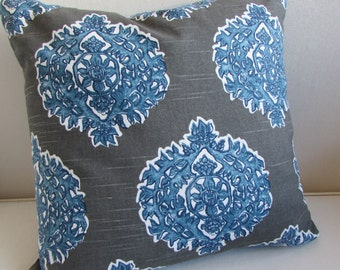 MADRAS SEASIDE  decorative designer pillow cover 18x18 20x20 22x22 24x24 26x26