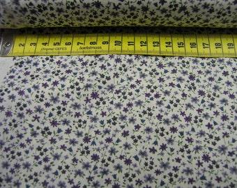 Cotton Fabric • Petite Fleur • pourpre • 002077