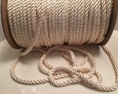 Oyster Cord, Cream White, Twist Rope, Spiral Cord, Home Decor, Per Yard, Costumes, Crafts, Supplies, Sewing, Draperies, Bags, Purses