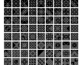 1 to 100 Isosceles Triangles (18x24)
