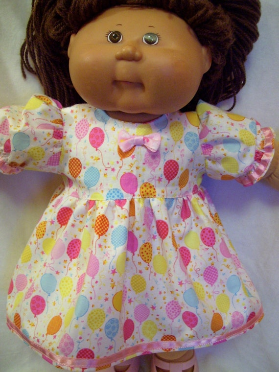 Cabbage Patch Doll Clothes Balloons Party Dress Set Fits