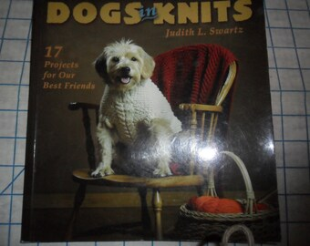 Just REDUCED 2002 Dogs in Knits Softcover 17 project Knit and Crochet book