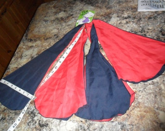 Vintage Bell Scarf in Navy and Deep Red with Original Tag by Paris Accessories in NY