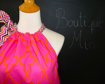 Pillowcase DRESS or TOP - Michael Miller - Morrocan Lattice - Made in ANY Size - Boutique Mia