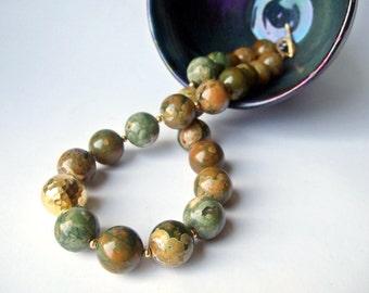 Luscious - Rainforest Jasper and Thai Vermeil Necklace