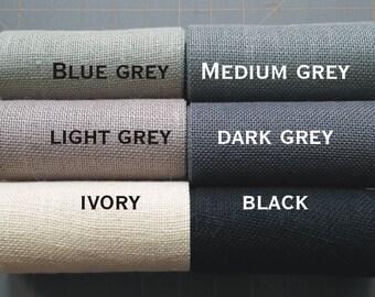 8 inch GREY BLACK or IVORY Burlap Ribbon