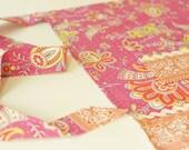 Half Apron -  Amy Butler Sari Blooms Floral Wrap in Raspberry