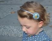Headband blue women and girl. Nest blue headband. Nest headband. Blue headband. Clay headband. Gift under 25.