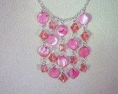 Mother of Pearl, Swarovski Pearl and Crystal Jewelry  -  Necklace & Earring Set