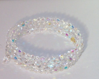 Swarovski Crystal Bridal Jewelry - Bride or Bridesmaid Bracelet - Made to Order in Any Color