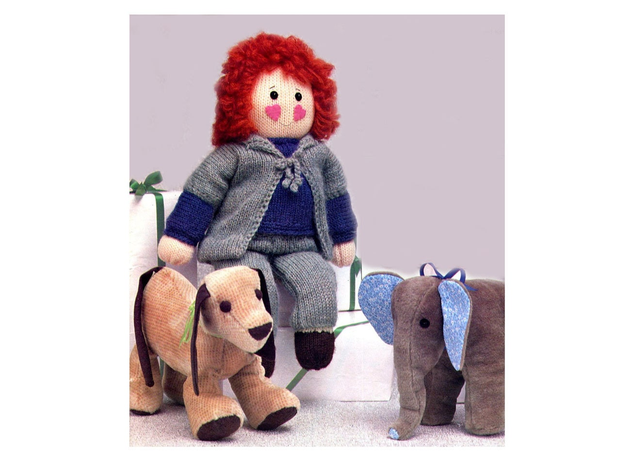Knitting Nancy Doll : Doll and clothes knitting pattern dressable teddy bear