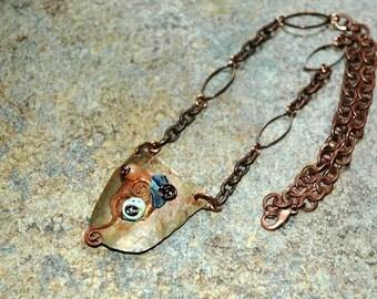 Copper and semi-precious stone necklace