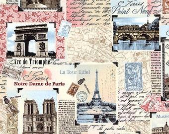 Items Similar To Paris Eiffel Towel Pattern Fabric Shower