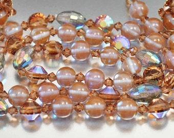 Saphiret Hobe Necklace Set, Sappharine Saphiret Glass Beads, Designer Jewelry, Hobe Earrings, Designer Hobe Jewelry, Crystal Necklace