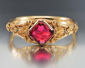 Antique Victorian Bracelet Austin & Stone Gold Filled Bangle Bracelet Ruby Glass Hinged Bracelet Victorian Jewelry Antique Jewelry