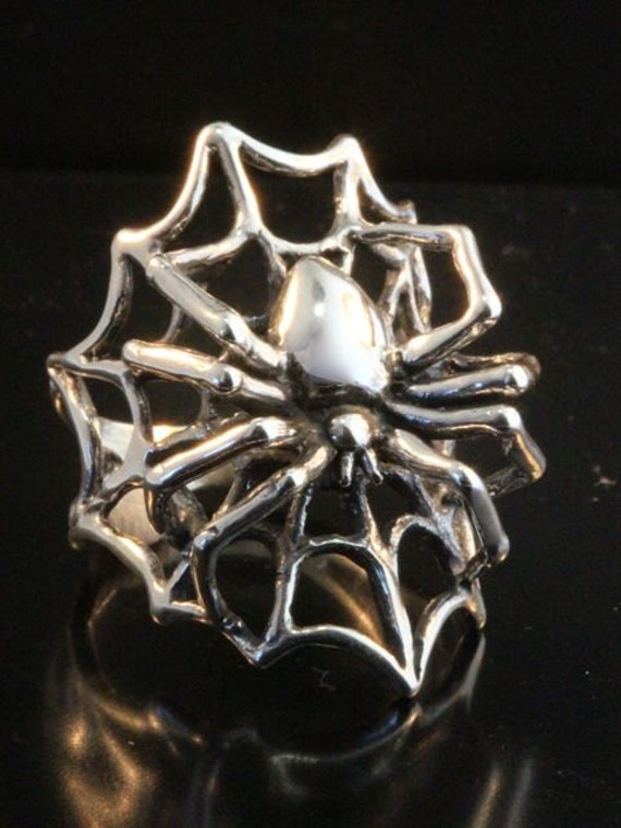 spider ring silver spider web ring spider jewelry