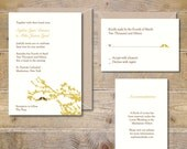 Printable Wedding Invitations . DIY Wedding Invitations . Wedding Invites . Lovebirds Wedding Invitations . Heart .  PDF  - Lovebirds