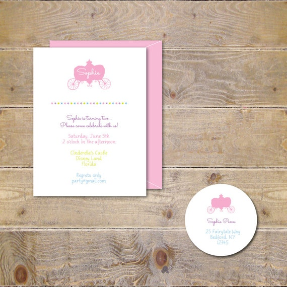 Princess Birthday Invitations, First Birthday Invitations, Pricess Party Invitations, Second Birthday, Pink, Fairytale - Our Little Princess