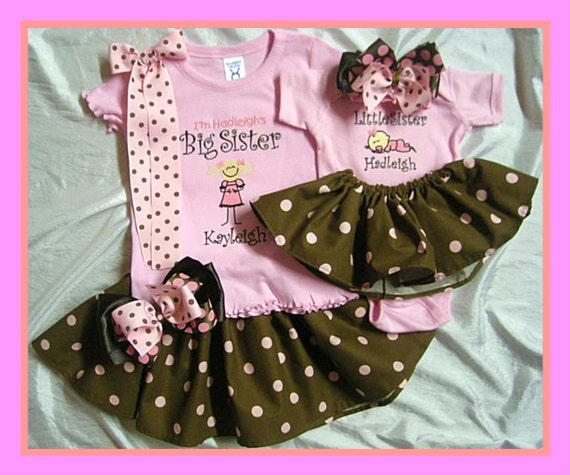 Big Sister Little Sister Matching outfit T-shirt Onesie Tutu