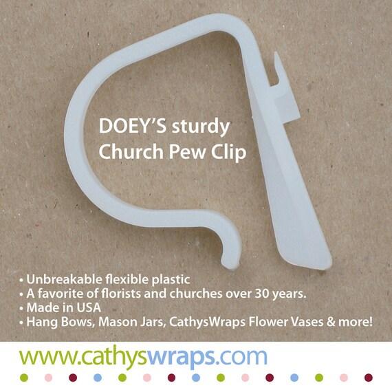 Simple Wedding Church Pew Decorations: Church Pew Clips HEAVY DUTY Wedding Pew Decorations Mason
