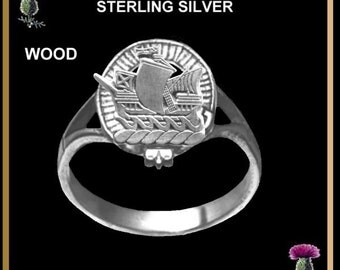 Scottish Ladies Clan Crest Ring LC200 - Sterling Silver - All Clans