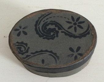 Paper Mache Vintage Paisley  Box