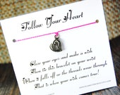 Follow Your Heart - Wish Bracelet - (Crazy In Love) - Shown In The Color PERFECT PINK  - Over 100 Different Colors Are Also Available