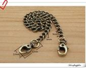 36 cm ( 14 inch )  Anti brass Metal purse chain Key chain CF18