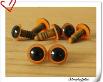 10 mm Orange Safety eye amigurumi eye doll eyes cat eye 20  pieces EB58