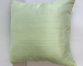 Powder Green dupioni silk pillow covers. Deceretive   throw pillows PASTEL SHADE'S . On discount. 20% off