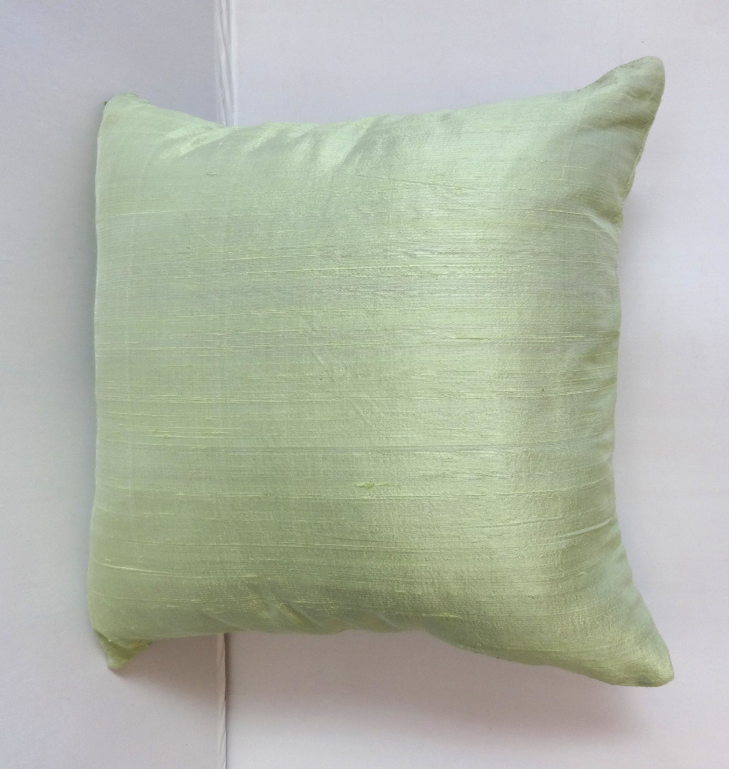 Powder Green dupioni silk pillow covers 18 inch throw pillows