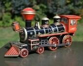 Vintage 1950s Lucky Locomotive Train with original box