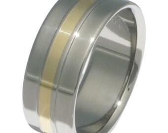 Titanium Gold Wedding Band - Gold Ring - g5