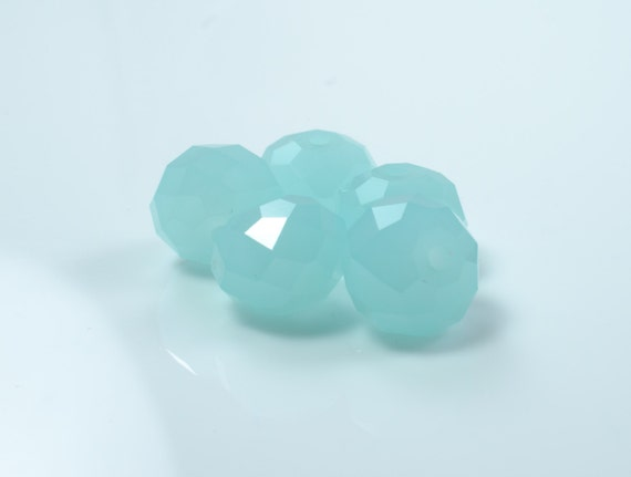 Amazonite Faceted Crystal Rondelle Beads